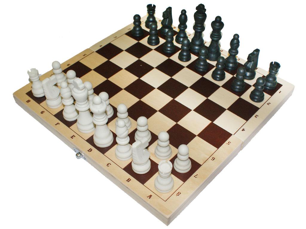 Комплект шахматы с деревянной доской. артикул 00295