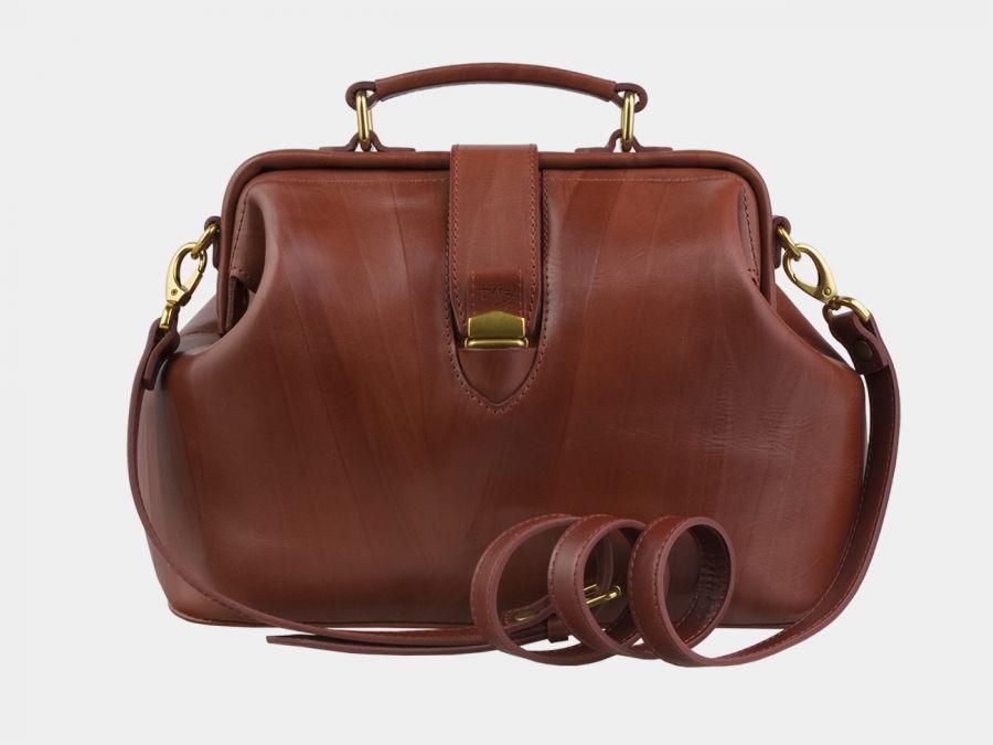 """Женская кожаная сумка Alexander-TS """"W0023 Cognac"""""""