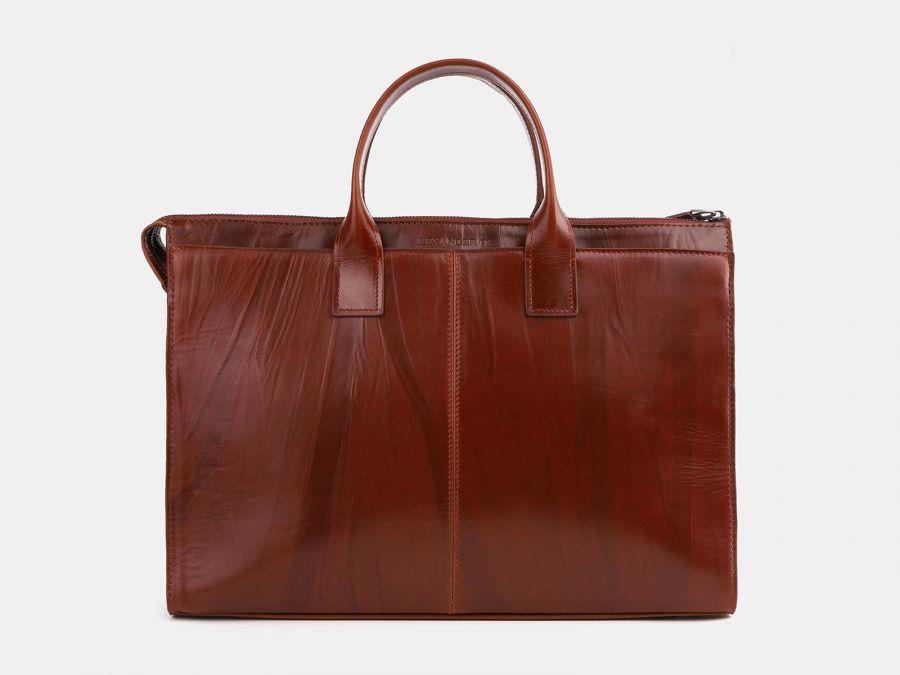 Кожаная мужская сумка из натуральной кожи Alexander-TS «PF0023 Cognac»