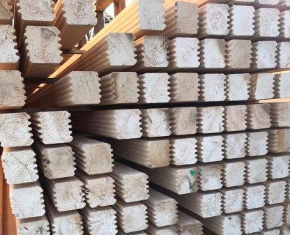 Брус стеновой профилированный 100х150х6000 мм