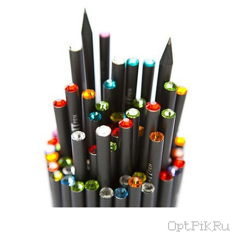 Простой карандаш со стразами