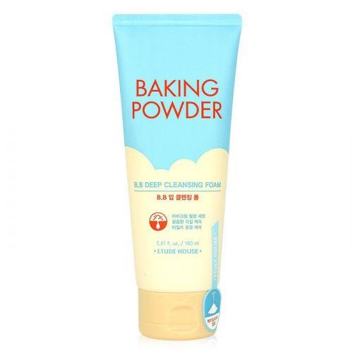 Очищающая пенка для снятия ББ-крема с содой Etude House Baking Powder B.B Deep Cleansing Foam 160мл