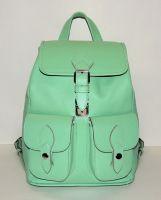 """Зеленый кожаный рюкзак  """"Ментол"""""""