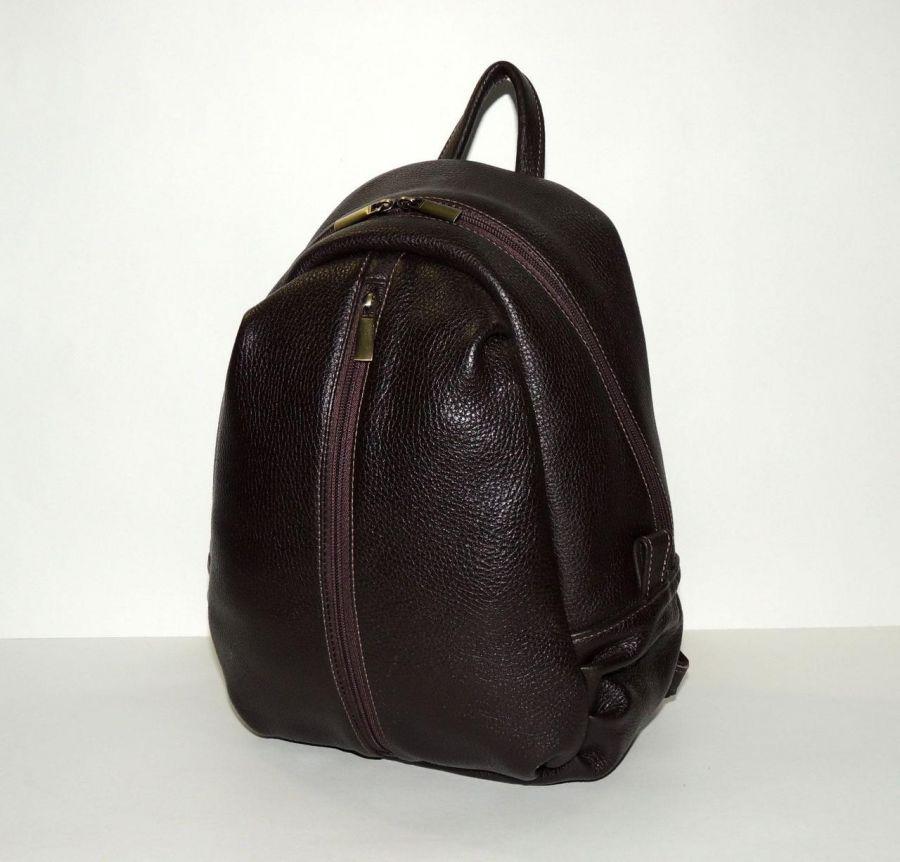 """Кожаный рюкзак коричневый женский  """"Кофейный"""""""