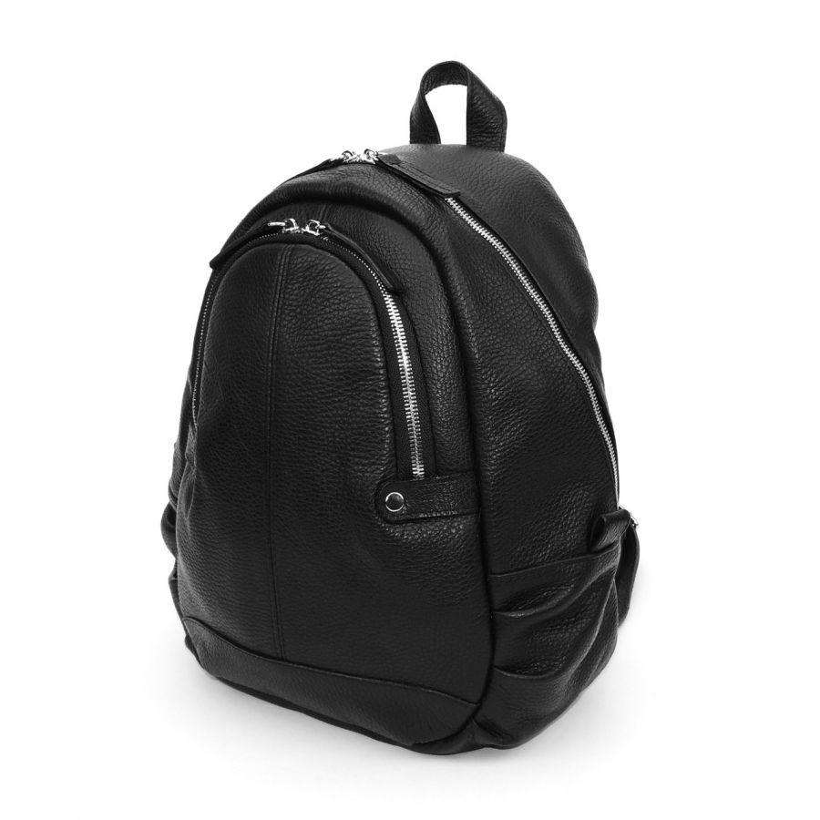 """Черный кожаный рюкзак  """"Мими"""""""