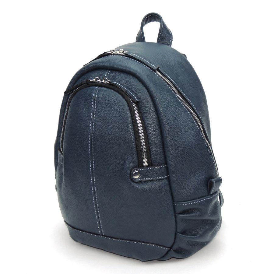 """Синий кожаный рюкзак  """"Мариа"""""""