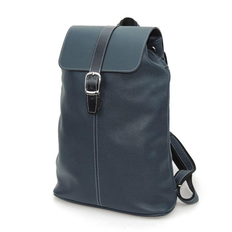 """Синий кожаный рюкзак  """"Илана"""""""