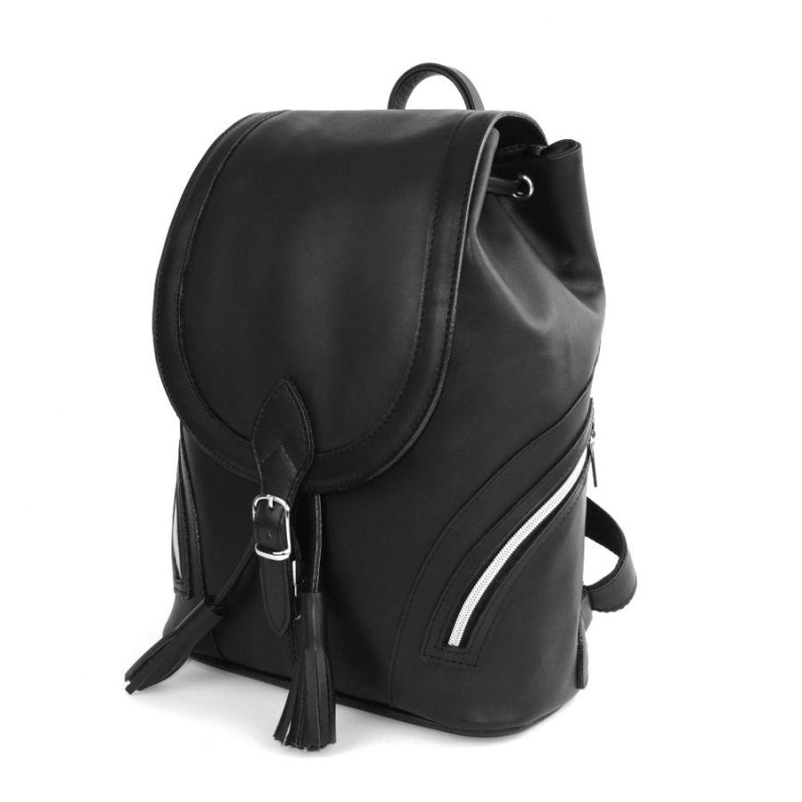 """Рюкзак кожаный черный  """"Монро"""""""