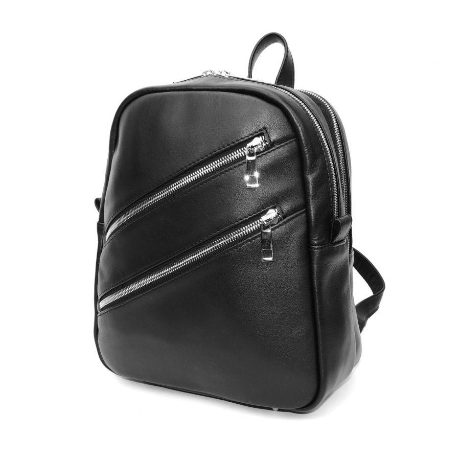 """Черный кожаный рюкзак  """"Альмира"""""""
