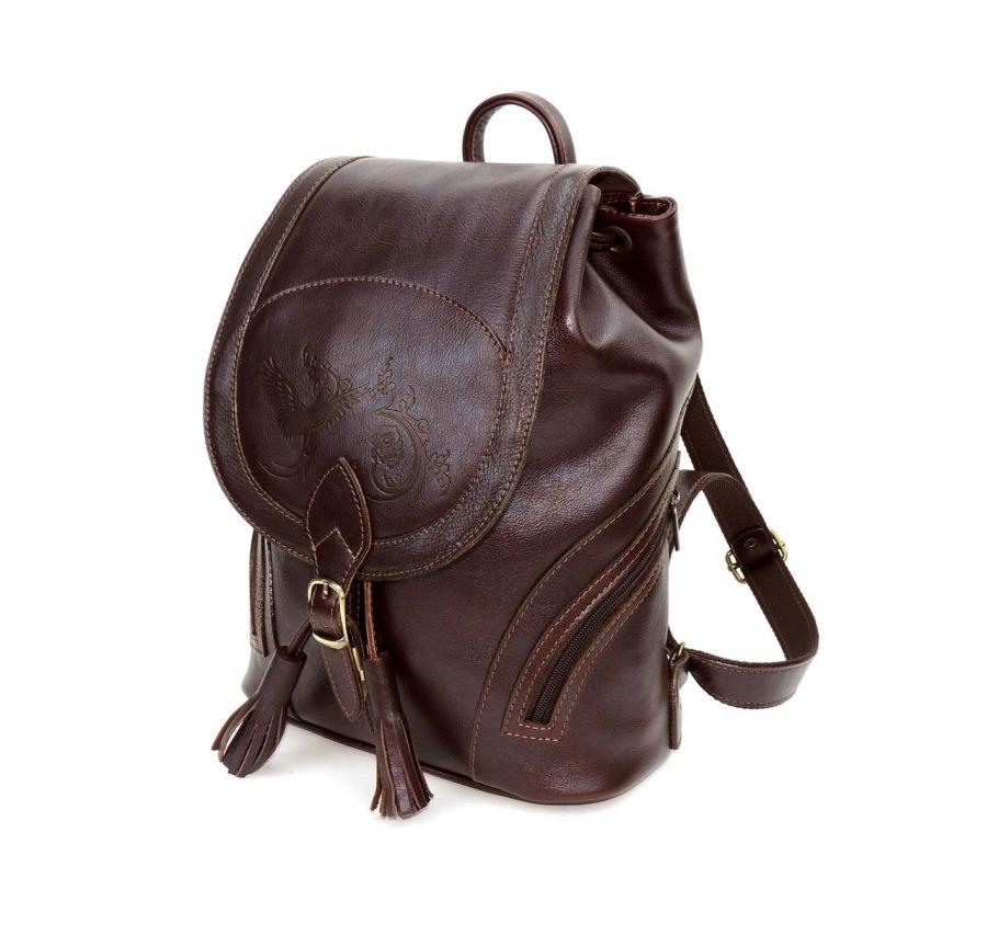"""Коричневый кожаный рюкзак  """"Беатрис"""""""