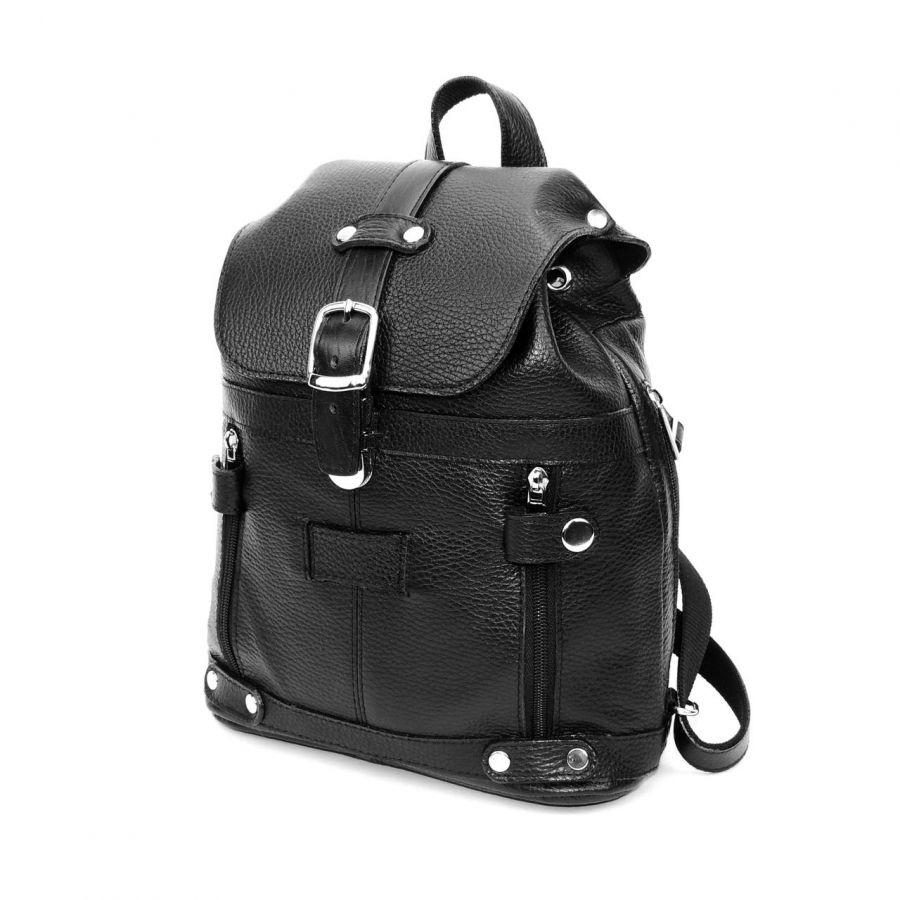 """Черный кожаный рюкзак  """"Римма"""""""