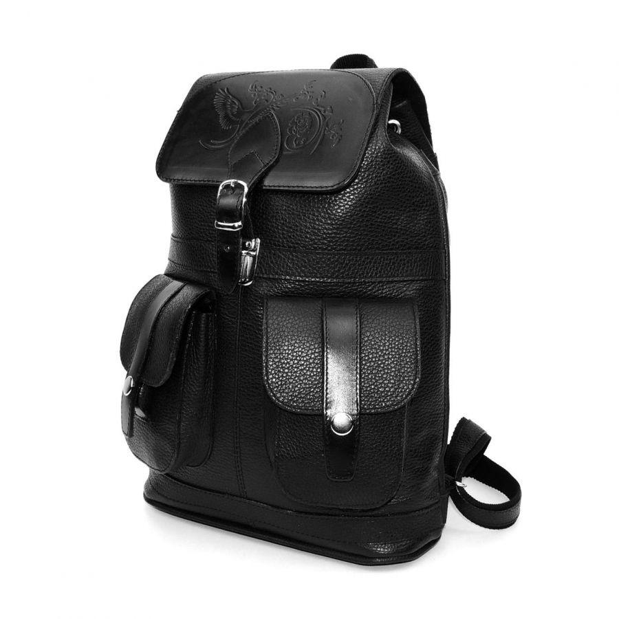 """Черный кожаный рюкзак  """"Эстель"""""""