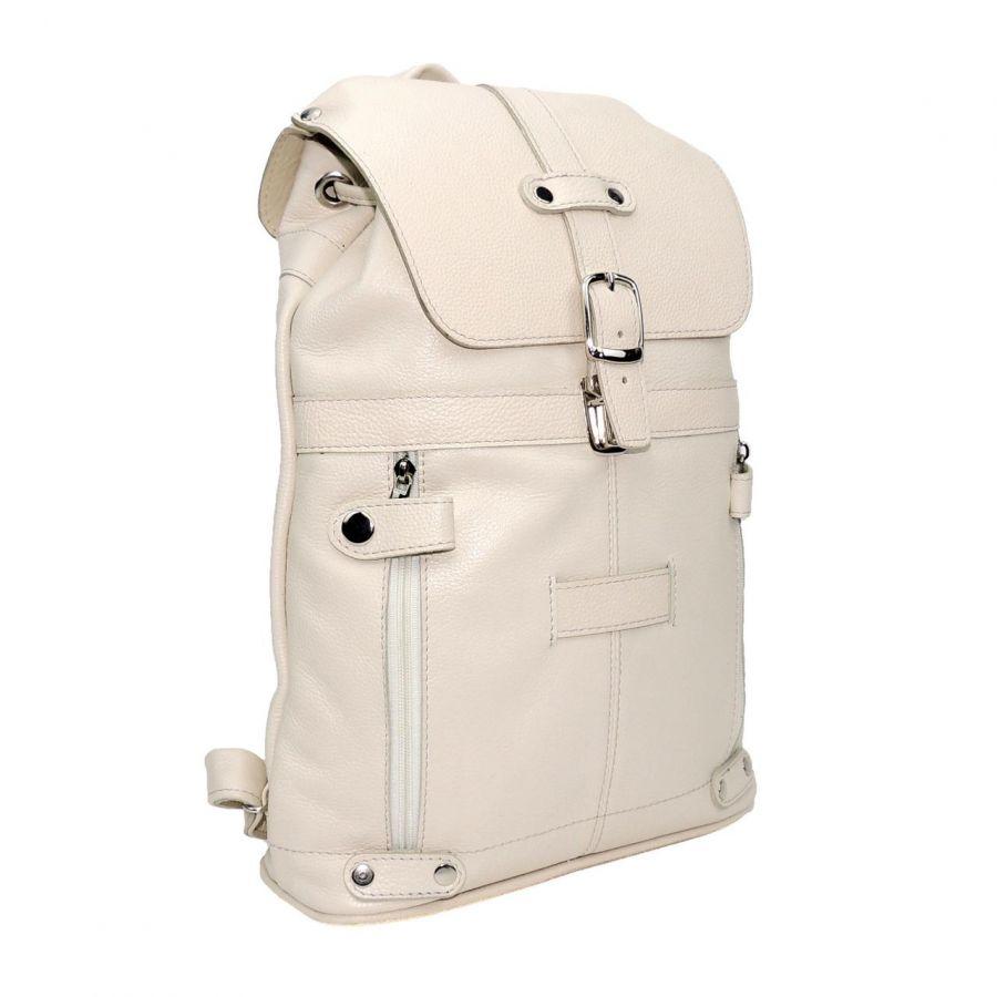 """Бежевый кожаный рюкзак  """"Лера"""""""