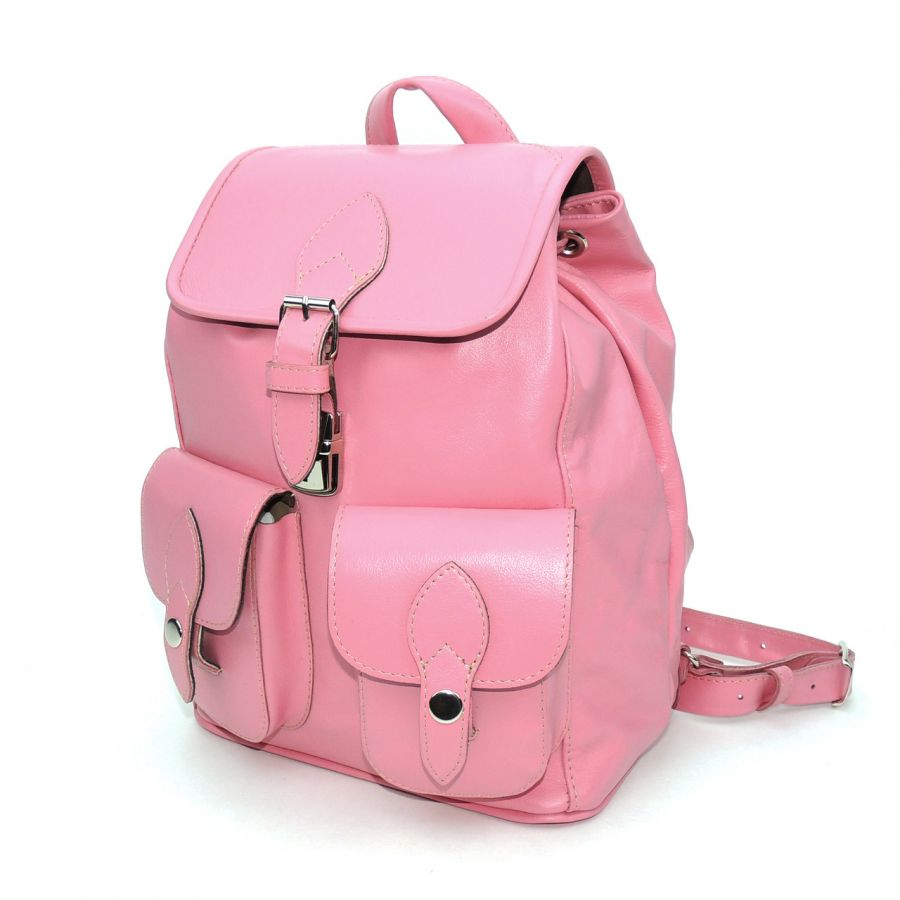 """Розовый кожаный рюкзак  """"Росита"""""""
