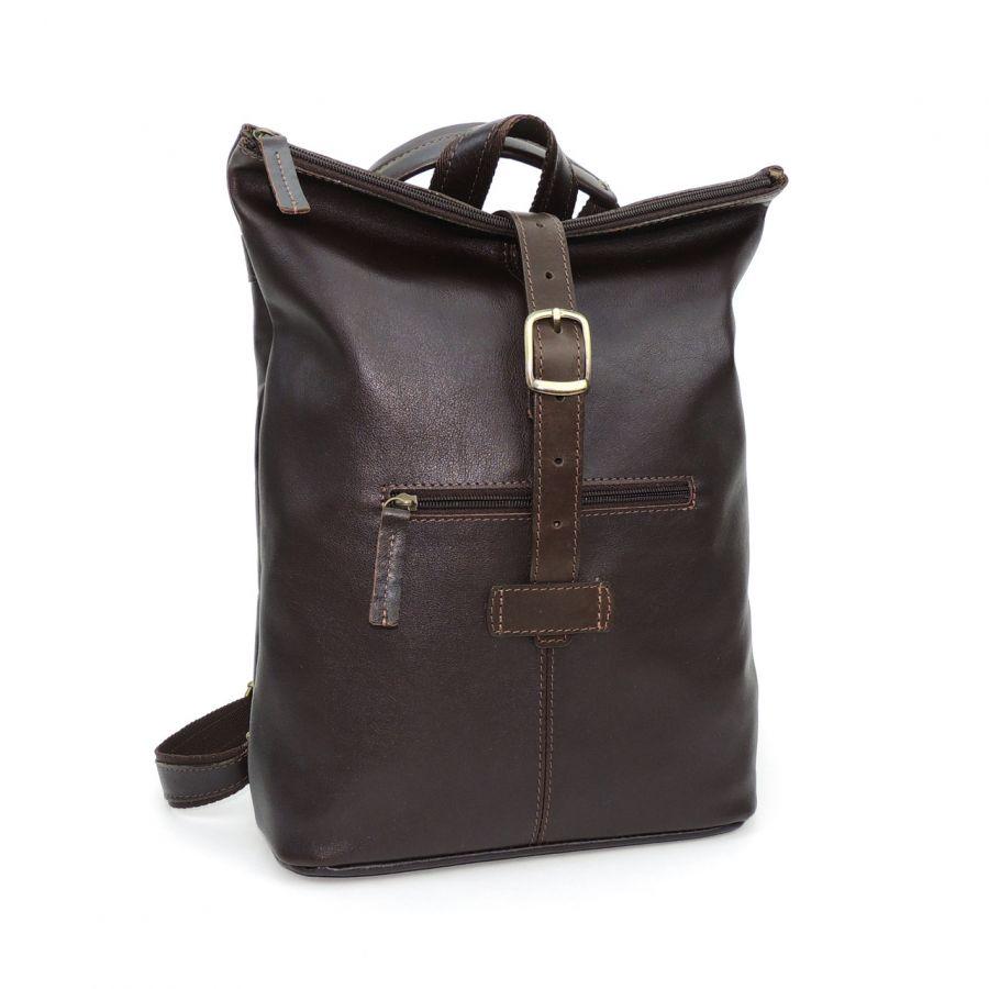 "Коричневая кожаная сумка-рюкзак  ""Саламандра"""