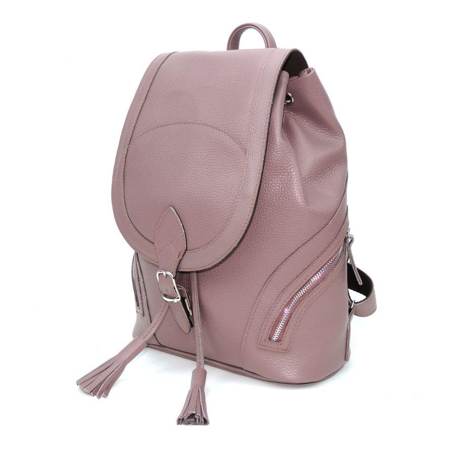 """Лиловый кожаный рюкзак  """"Дафна"""""""