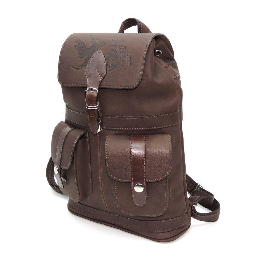"""Коричневый кожаный рюкзак  """"Кокос"""""""