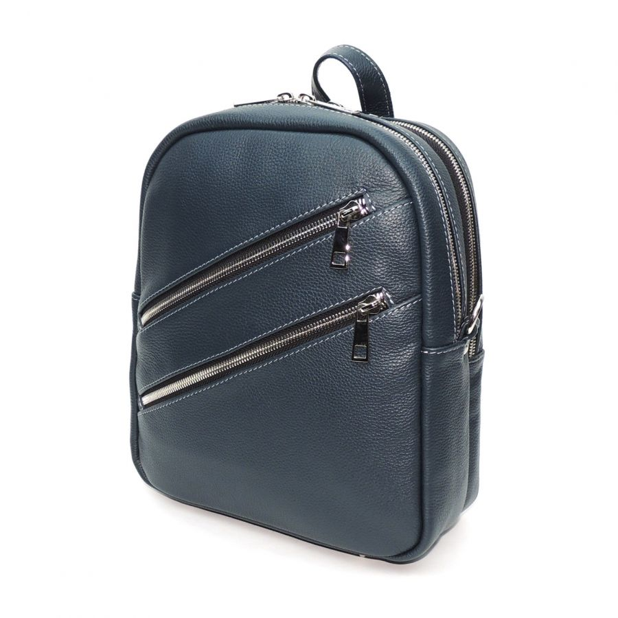 """Сумка рюкзак кожаная женская синяя  """"Эдилия"""""""