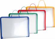 Папка на молнии пластиковая ErichKrause® Zip Folder, с ручками, A3, ассорти (в коробке по 12 шт.) (арт. 34829)