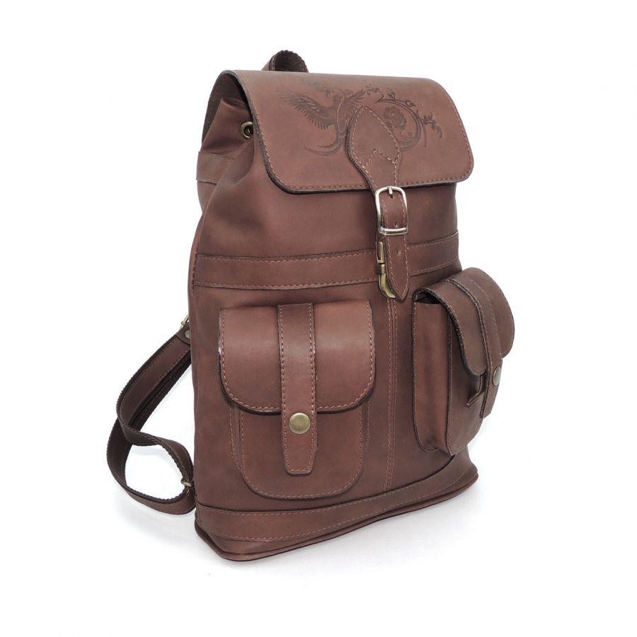 """Кожаный рюкзак женский бежевый  """"Элиза"""""""