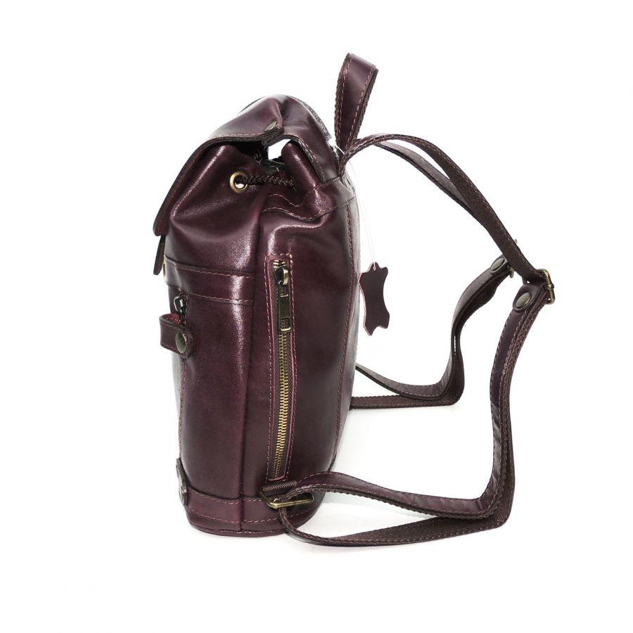 """Бордовый кожаный рюкзак  """"Бордо"""""""