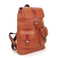 """Рыжий кожаный рюкзак  """"Грэсия"""""""