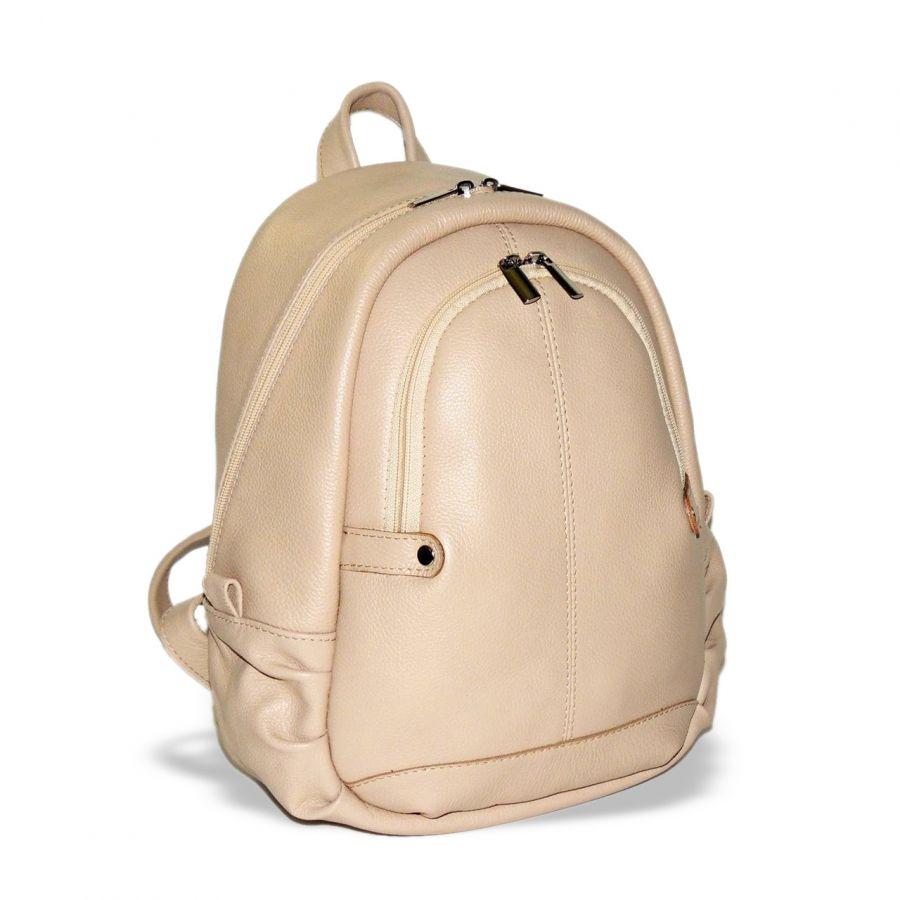 """Бежевый кожаный рюкзак  """"Джесс"""""""
