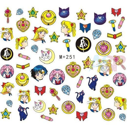 Наклейки на ногти Sailor Moon