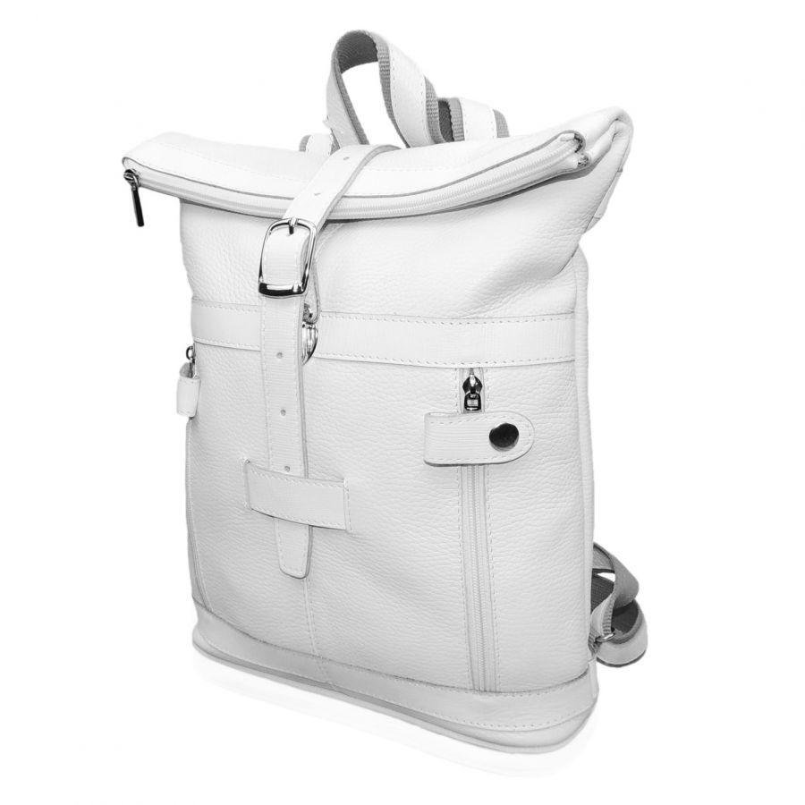 """Белый кожаный рюкзак  """"Сильвия"""""""