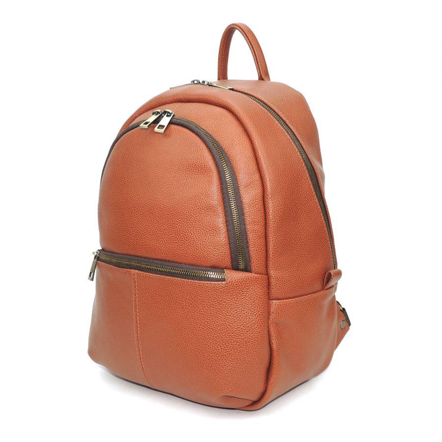 """Оранжевый кожаный рюкзак  """"Ксанта"""""""