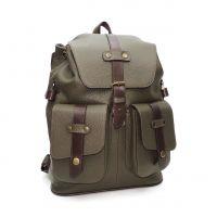 """Зеленый кожаный рюкзак  """"Кипарис"""""""