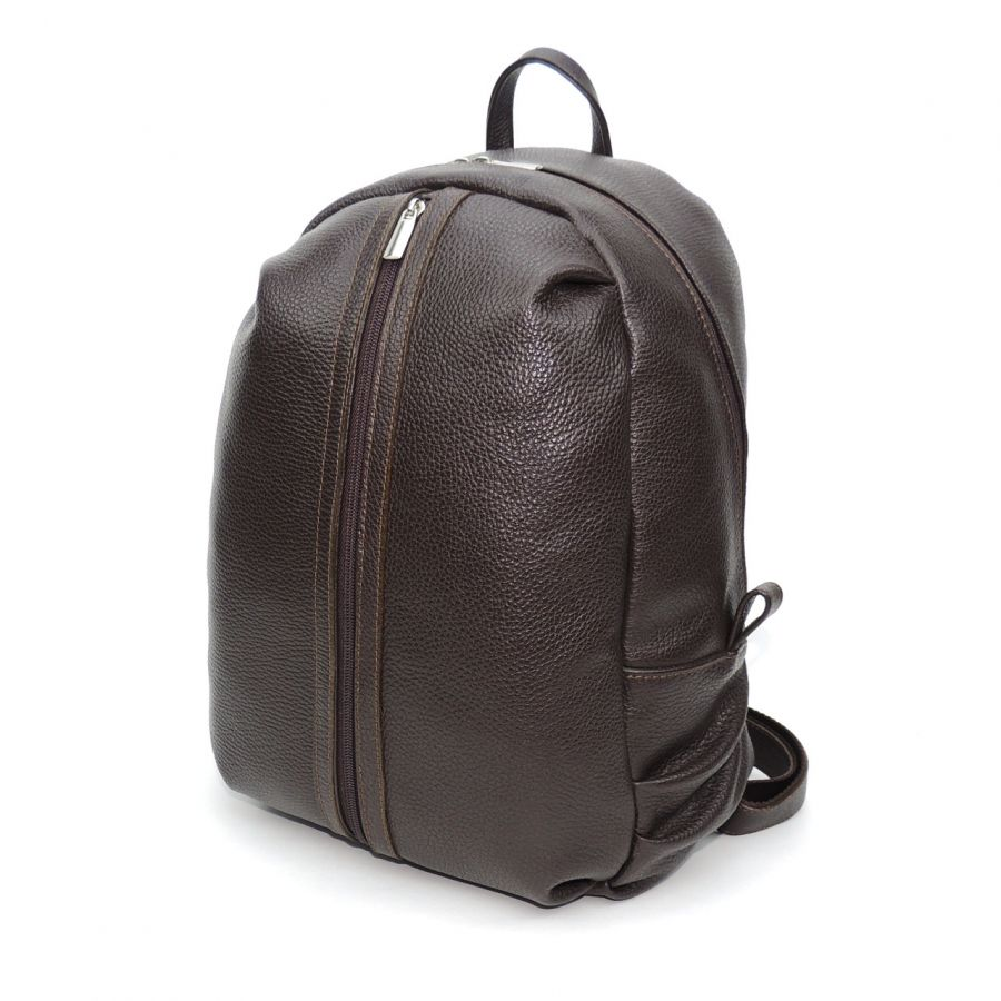 """Коричневый кожаный рюкзак  с двумя отделениями """"Гай"""""""
