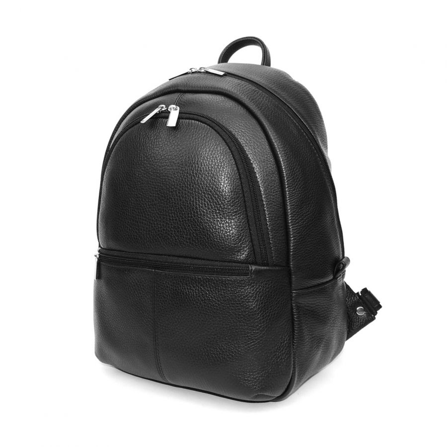 """Черный кожаный рюкзак  """"Урбан"""""""
