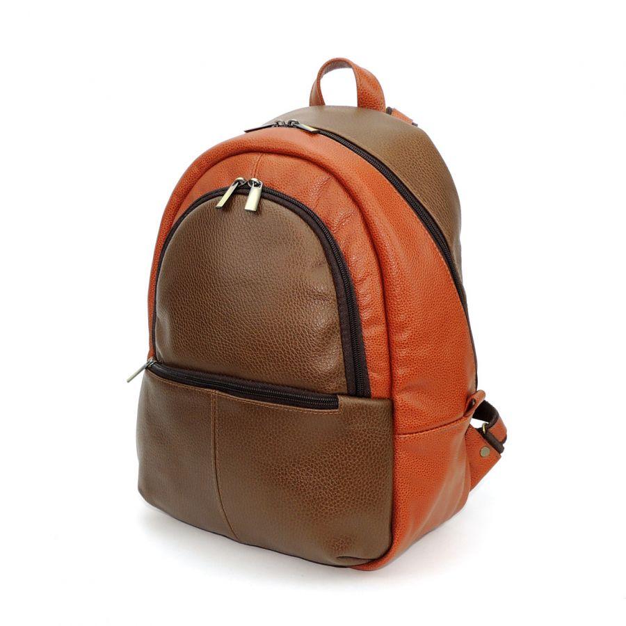 """Коричневый кожаный рюкзак  """"Велия"""""""