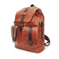 """Оранжевый кожаный рюкзак  """"Каньон"""""""