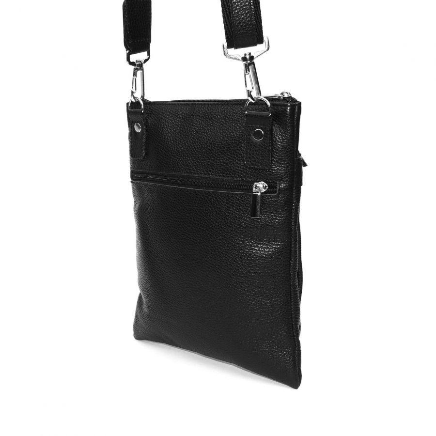 """Черная кожаная мужская сумка  """"Орион"""""""