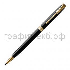 Ручка шариковая Parker Sonnet Core Slim LagBlack GT черный лак К430 1931498