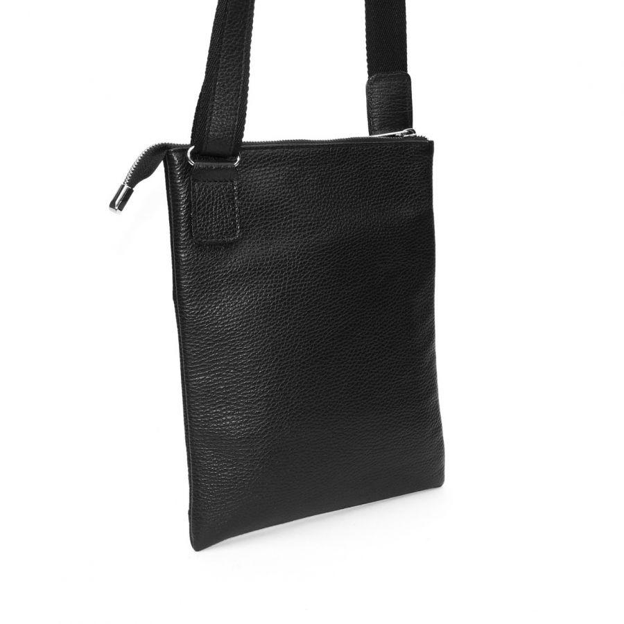 """Черная мужская кожаная сумка  """"Эрнесто"""""""
