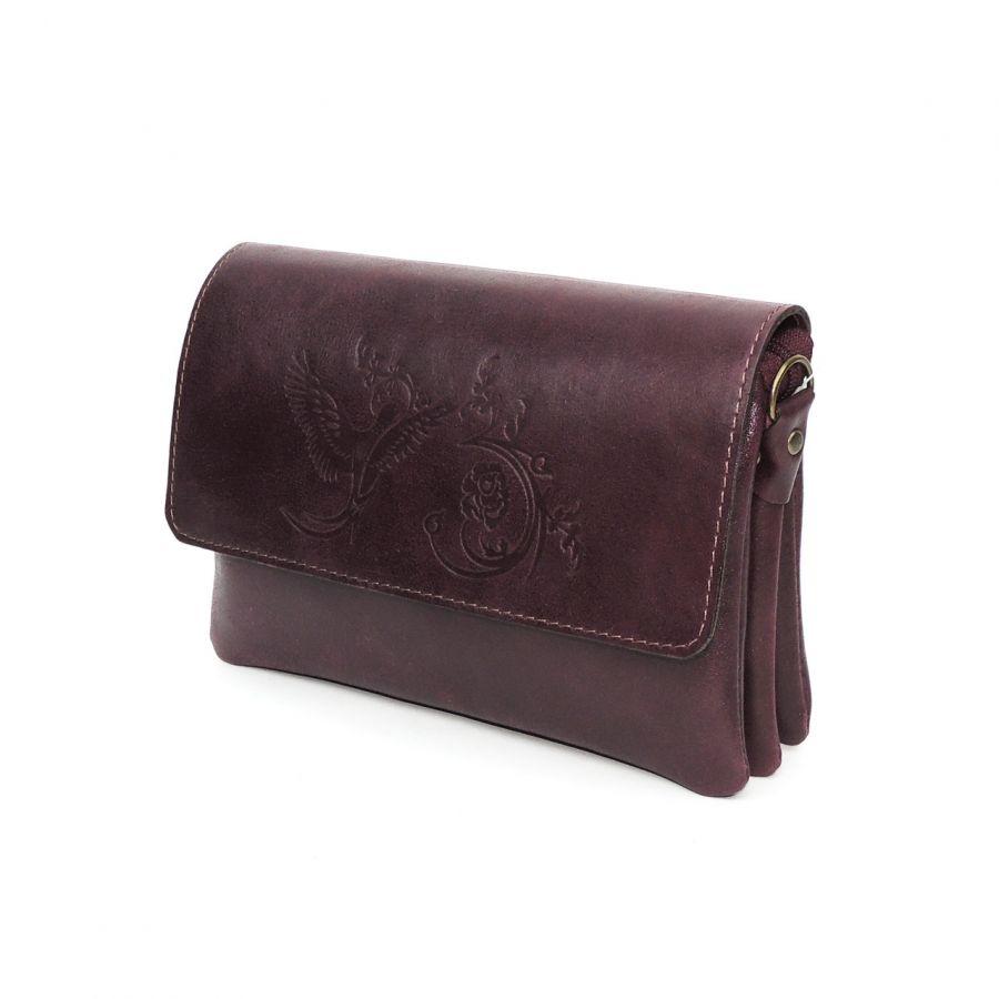 """Женская кожаная бордовая сумка  """"Дария"""""""
