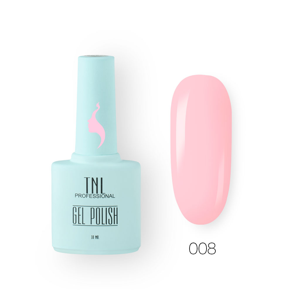 Гель-лак TNL 8 Чувств №008 - розовый фламинго (10 мл.)