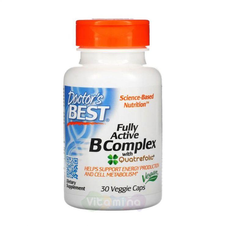 Doctor's Best Комплекс активных витаминов B с Quatrefolic, 30 капсул