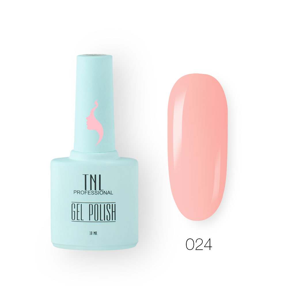 Гель-лак TNL 8 Чувств №024 - розовый туман (10 мл.)