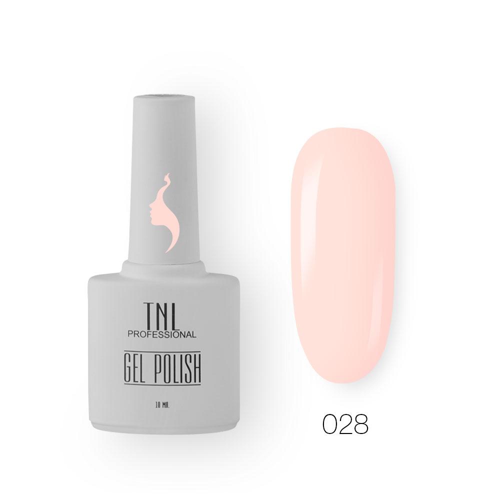 Гель-лак TNL 8 Чувств №028 - бежево-персиковый (10 мл.)