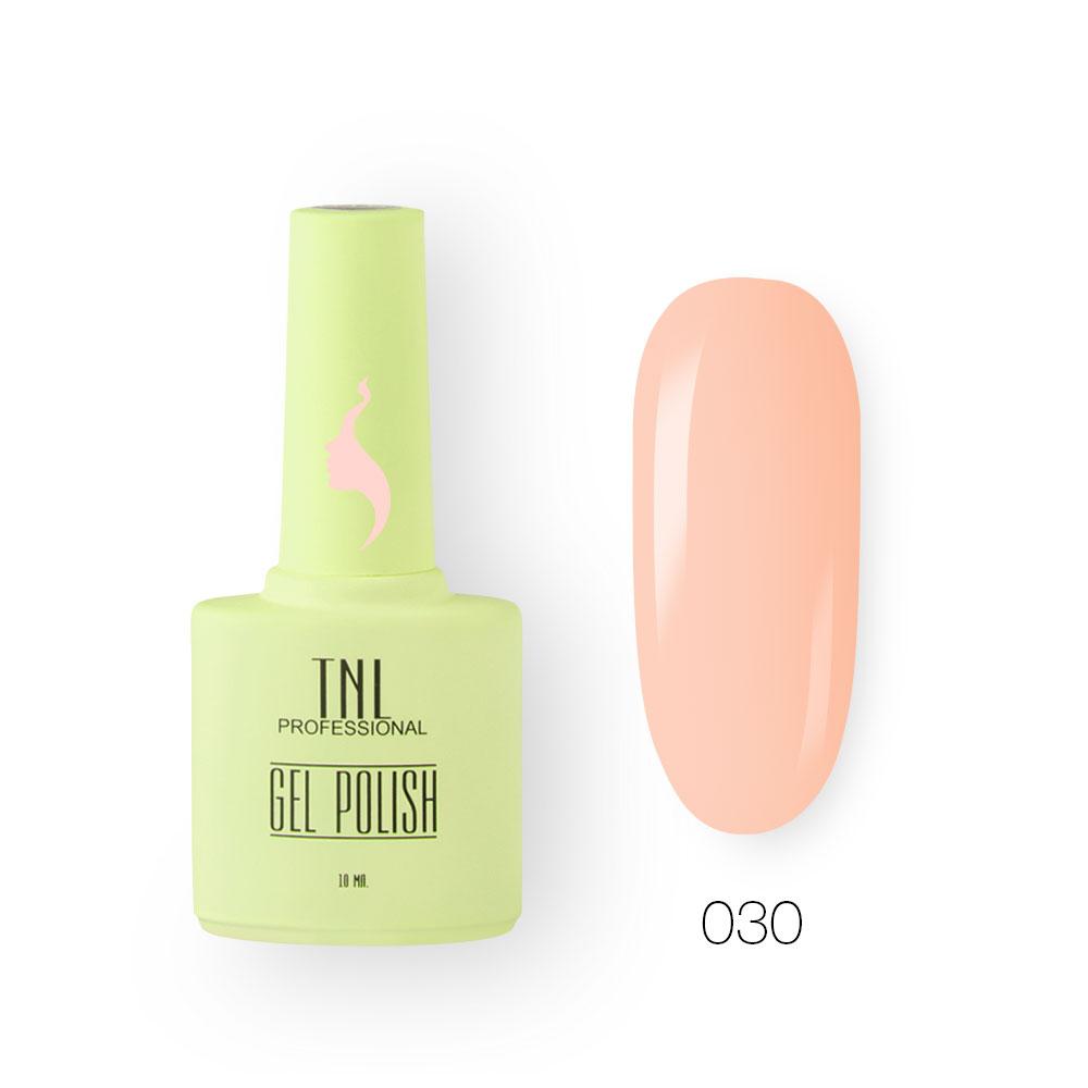 Гель-лак TNL 8 Чувств №030 - персиковый мусс (10 мл.)