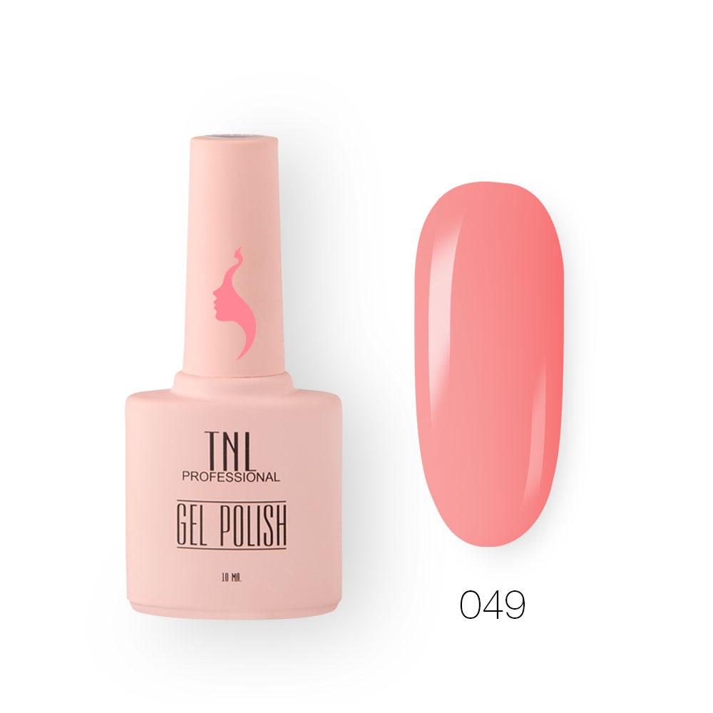 Гель-лак TNL 8 Чувств №049 - кораллово-розовый (10 мл.)