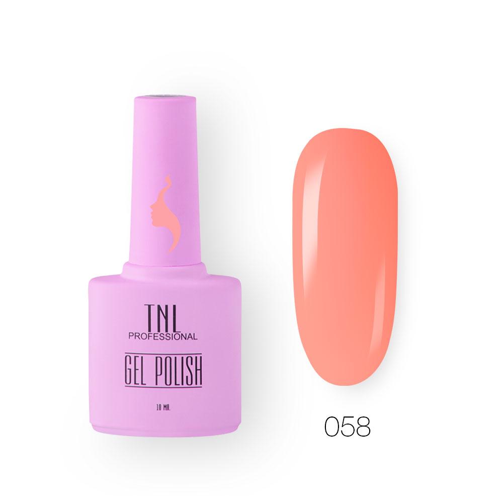 Гель-лак TNL 8 Чувств №058 - абрикосовый щербет (10 мл.)