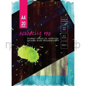 Альбом А4 20л.Kroyter склейка для акварели Гознак 200г/м2 05664