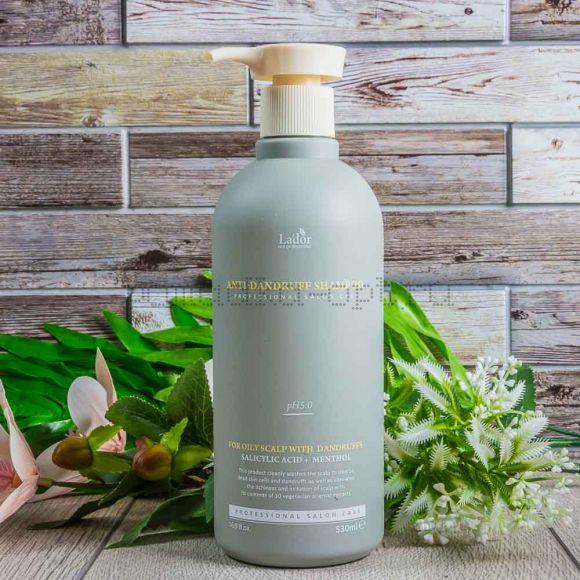 Оригинал  Шампунь для волос La'dor Anti Dandruff Shampoo Слабокислотный шампунь против перхоти для чувствительной кожи головы