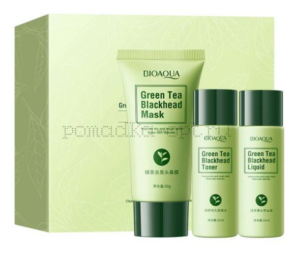 Оригинал  BIOAQUA Косметический набор от черных точек Green Tea Blackhead Combination