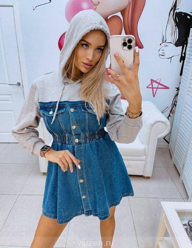 Восхитительное джинсовое платье; (Турция)